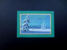 Disney Artist Ralph Hulett Christmas Greeting Card Deer out on a Moonlit Night