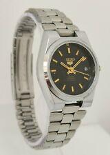 Vtg 1981 Seiko 5 Automatic 23 Jewel 6Y39-7010 Date Ladies Black Face Wrist Watch