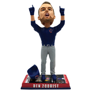 Chicago CUBS Ben Zobrist Ticket Base World Series Bobblehead #/2,017