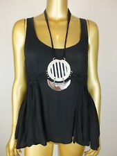 SASS & BIDE TANK TOP  ' METAL RING'  CAMI TOP SHIRT BLOUSE TUNIC 38 2