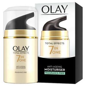 Olay Total Effect 7-in-1 Anti-Ageing Fragrance-Free Moisturiser 50 ml -Brand New