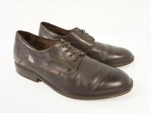 Mephisto Folmer Dark Brown Leather Oxford Derby Casual Plain Toe Shoes Men 10