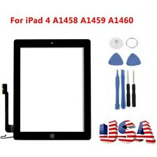 Digitizer Touch Screen Glass Replacement for iPad 4 4th Gen - Black