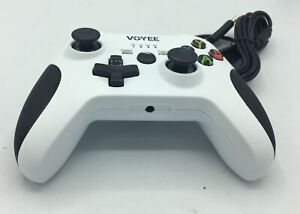 VOYEE Xbox One Wired Controlle Dualshock Vibration Black/White NEW
