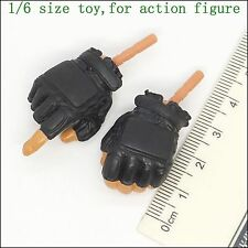 XB33-03 1/6 Scale HOT Black Glove Hands SWAT TOYS