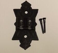 "5"" LONG LARGE BLACK CAST IRON DOUBLE WALL BRACKET LAMP HINGE NEW 13930JB"