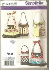 Simplicity Sewing Pattern 2169 Four Styles of Quilted Patchwork & Ruffles Bags