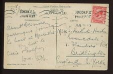 GIBRALTAR 1920 PPC MULTI VIEW...KG5 GB 1d PAQUEBOT MACHINE LONDON FS POSTMARK