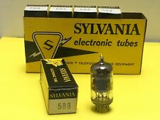QTY OF 5 SYLVANIA  5B8 ELECTRONIC TUBE - NOS IN BOX ~ Made in USA ~