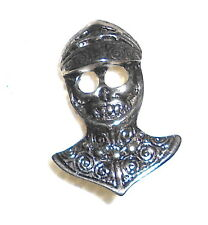 KNIGHT SKULL - Teschio Cavaliere 1989 Alchemy pin brooche spilla badge Bikers