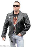 50er Marlon Brando like Motorrad Bikerjacke Lederjacke Rockabilly Leather m-4xl