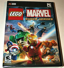 Vintage Lego Marvel Super Heroes DVD PC Game New NOS Sealed 2013 Xp DVD-ROM