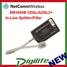 NetComm EM1650B VDSL/ADSL2+ In-Line Splitter/Filter Certified by NBN EM1690B