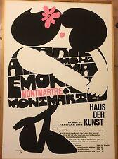 ORIGINAL PLAKAT SIEBDRUCK FASCHING MÜNCHEN 1967 MONTMARTRE SIGNIERT VE