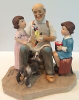 Vintage Norman Rockwell The Toymaker Porcelain Figurine Limited Edition EUC