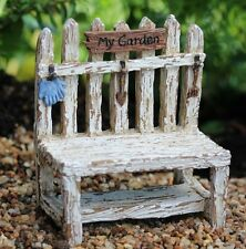 Picket Fence Potting Bench WS 1614 Miniature Fairy Garden Dollhouse