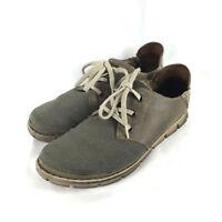 Born Sandor Oxford Taupe Leather Canvas Upper Shoes Men's Size 13 Lace Up