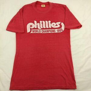 VTG Velva Sheen Mens Medium Philadelphia Phillies 1980 World Series Champs Shirt