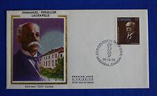 """Canada (877) 1980 Emmanuel Persillier Lachappelle Colorano """"Silk"""" FDC"""