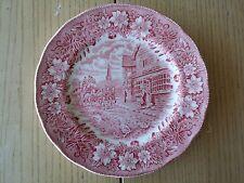 ROYAL TUDOR WARE COACHING TAVERNS PLATE ENGLAND PINK TRANSFERWARE