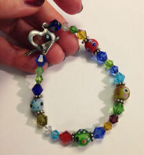 Mixed Materials Alloy Handcrafted Bracelets