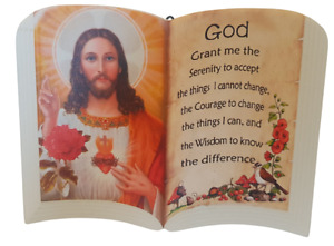 Christianity Jesus Christ The Bible Book Prayer hanging Freestanding Picture