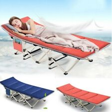 Portable Folding Bed Camping Rollaway Cot w/ Storage Bag &Mattress Strong Stable