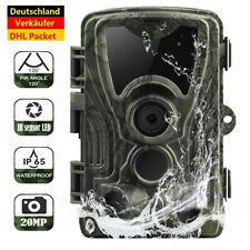 20MP Wildkamera 1080P FullHD IP65 Wasserdicht Fotofalle IR Nachtsicht Jagdkamera