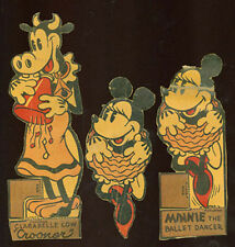 2 OLD 1935 MINNIE MOUSE & CLARABELLE COW CUT OUT FIGURES POST CEREAL BOX AD95