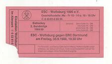 Orig.Ticket   2.Bundesliga  88/89  30.09.1988  ESC WOLFSBURG - ERC DORTMUND  !!