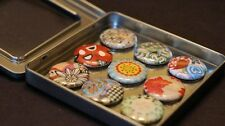 Retro Floral Patterns - 9 Magnet Set in Gift Tin (Favorite Variety)