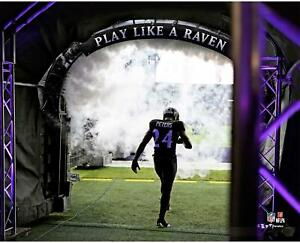 """Marcus Peters Baltimore Ravens Unsigned Play Like a Raven 8"""" x 10"""" Photo"""