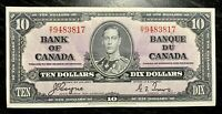 1937 $10 BANK OF CANADA COYNE-TOWERS D/T - E.F Cond!