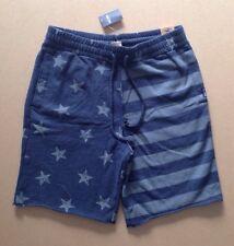 HOLLISTER Guys Sweat Shorts Size S BNWT Navy Blue / Grey - Stars & Stripes