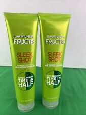 2 PK Garnier Hair Care Fructis Sleek Shot In-shower Styler Mix W/ Shampoo 5.1 oz