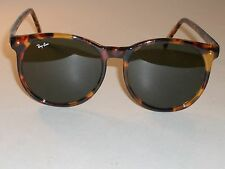 VINTAGE B&L RAY BAN W1594 STYLE 2 ROUND TORTOISE TRADITIONAL SUNGLASSES w/CASE