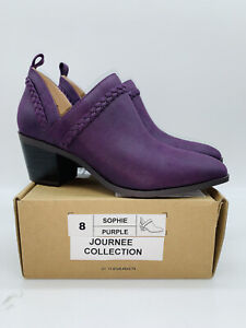 Journee Collection Women's Sophie Booties Purple US 8