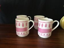 Kate Spade New York Lenox White and Pink Coffee Mugs (4) New
