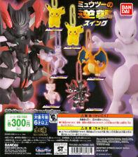 Bandai Pokemon MEWTWO Strike Back Evolution Swing Gashapon Charizard Set 6pcs