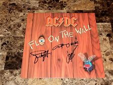 AC/DC Angus Young Cliff Williams Simon Wright Signed Fly On The Wall Record LP