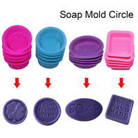 Home Square Round Oval Soap Moulds Silicone Chocolate Cake Baking Mold DIY YB