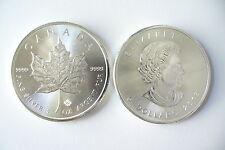 MONNAIE  CANADA - 5  DOLLARS MAPLE LEAF - 1 OZ SILVER - 999/1000 ARGENT NEUVE !