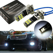 2X Xenon White 26-SMD High Power H3 LED Bulbs For Fog Lights DRL Driving Lamps