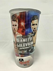 CANELO ALVAREZ GOLOVKIN OFFICIAL FIGHT DRINK CUP BOXING CHAMPIONSHIP GGG