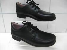 New GIRLS black leather MAMBO START-RITE school SHOES UK 13.5E classic lace ups