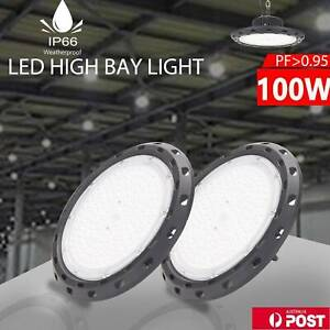 High Bay LED Lights Lamp 100W Industrial Shed Factory Warehouse Light UFO