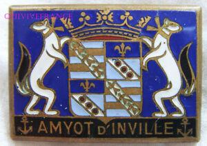 IN14438 - INSIGNE AMYOT D'INVILLE, Aviso Dragueur, deposé au centre