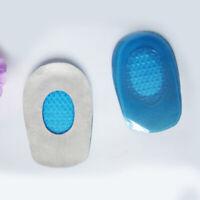 New Heel Pain Relief Heel Support Insoles ar FascIItis J8E0 Pad Gel Cu Y8Z0