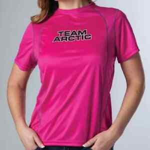 New Arctic Cat Women's Team Arctic Semi-fitted T Shirt~ Pink ~M~ # 5263-632