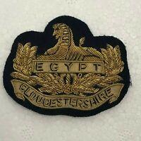 WW2 Gloucestershire Regiment Officers Bullion Side Cap Badge  4.6 x 5.8 cm's